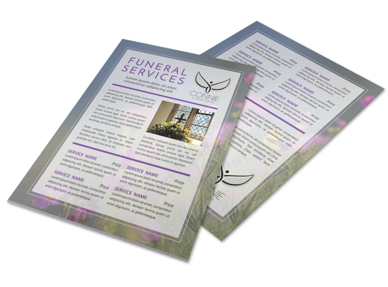Memorial Funeral Services Brochure Template Mycreativeshop