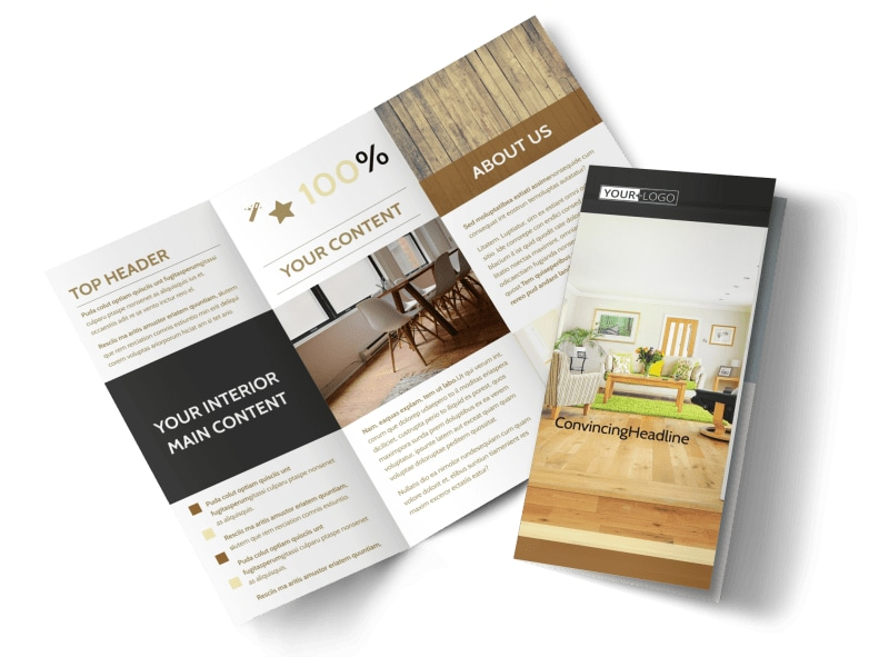 Hardwood Floor Installation Tri-Fold Brochure Template