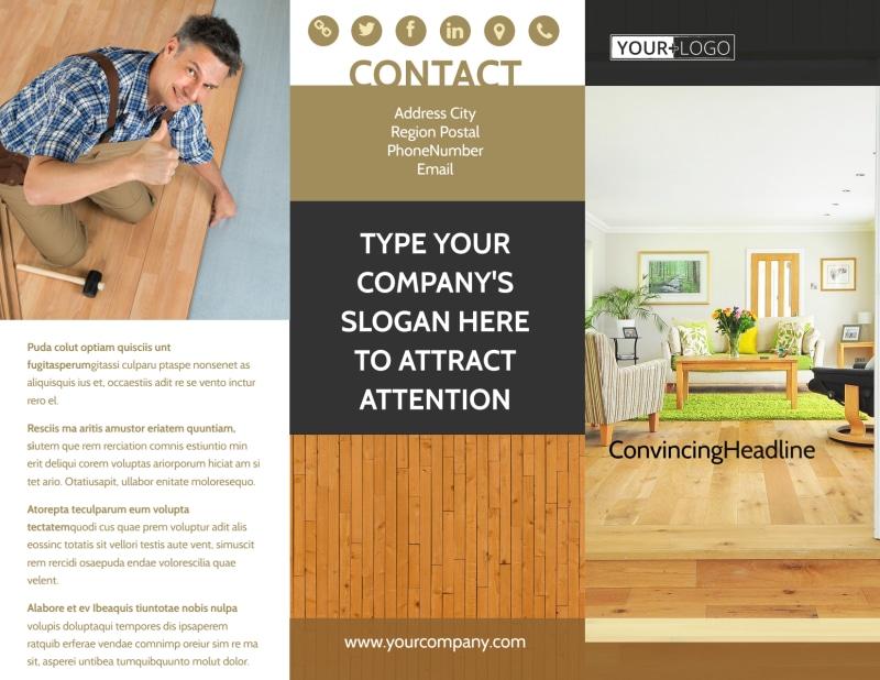 Hardwood Floor Installation Brochure Template Preview 2