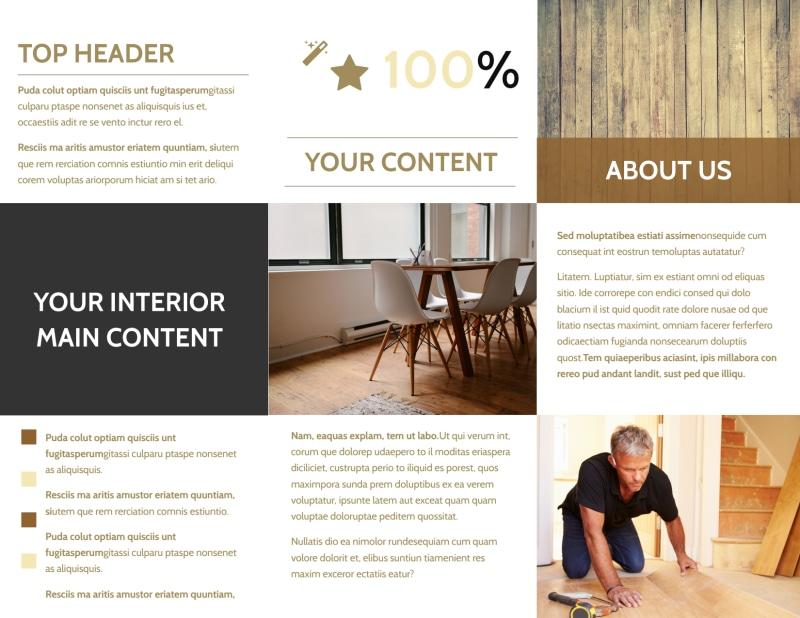 Hardwood Floor Installation Brochure Template Preview 3