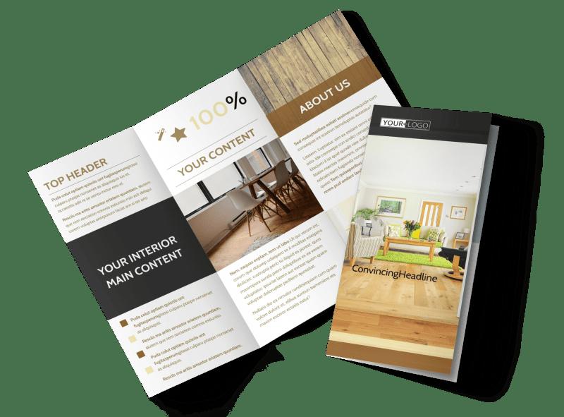 Hardwood Floor Installation Brochure Template Preview 1