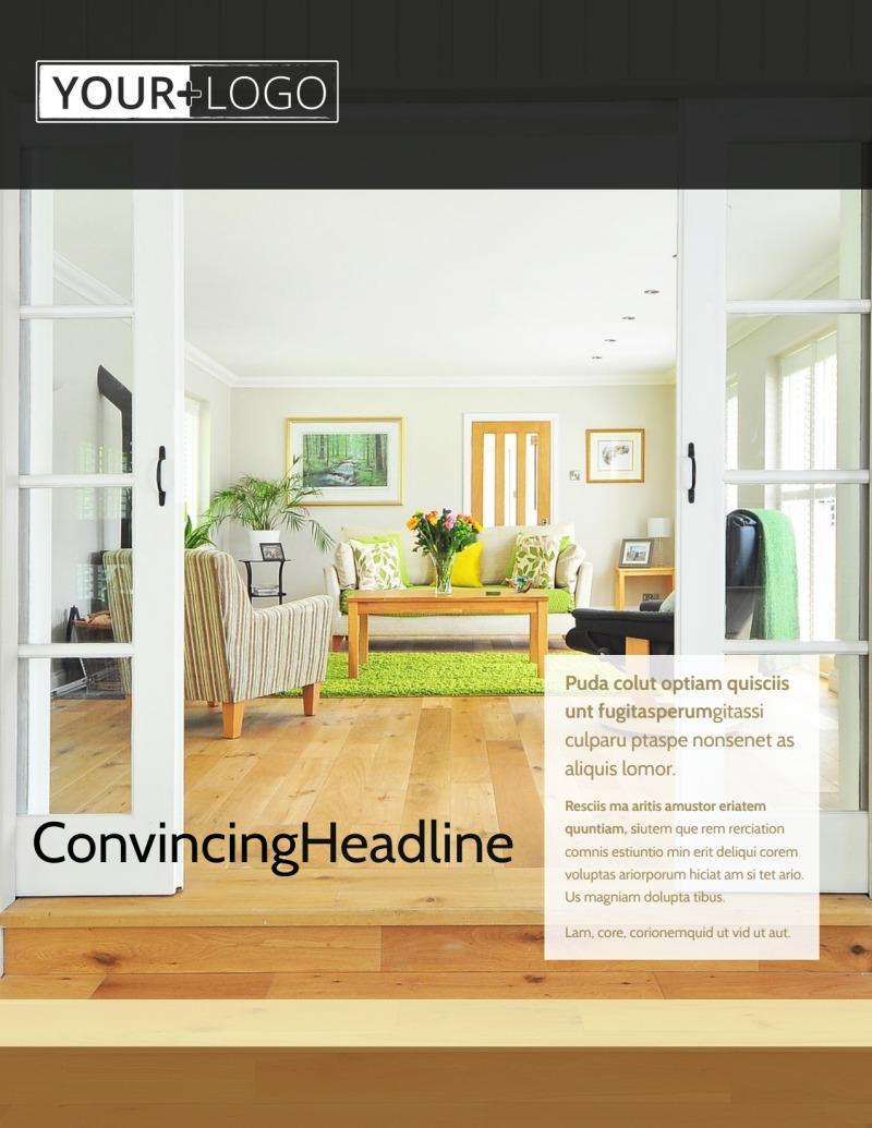 Hardwood Floor Installation Flyer Template Preview 2