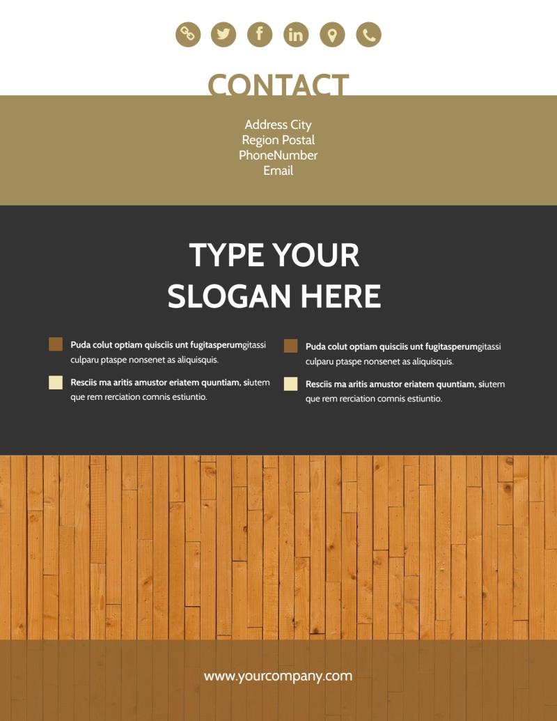 Hardwood Floor Installation Flyer Template Preview 3