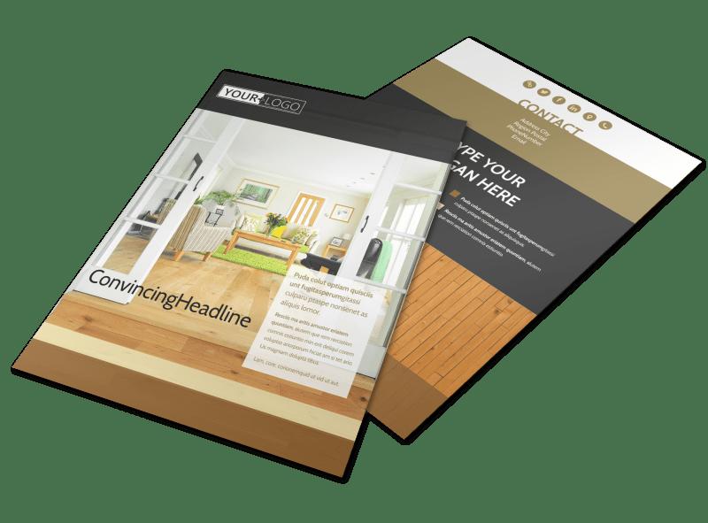 Hardwood Floor Installation Flyer Template Preview 1