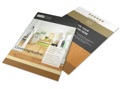 Hardwood Floor Installation Flyer Template preview