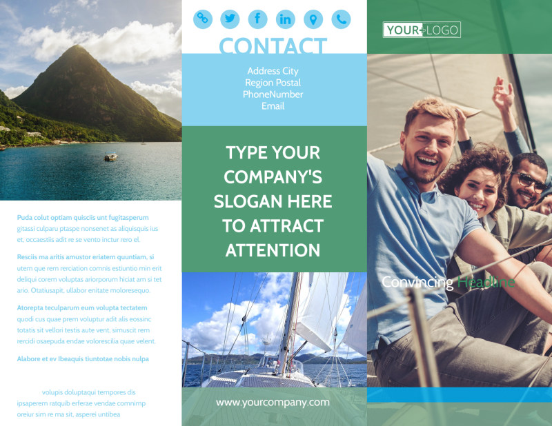 Sailing tours Brochure Template Preview 2