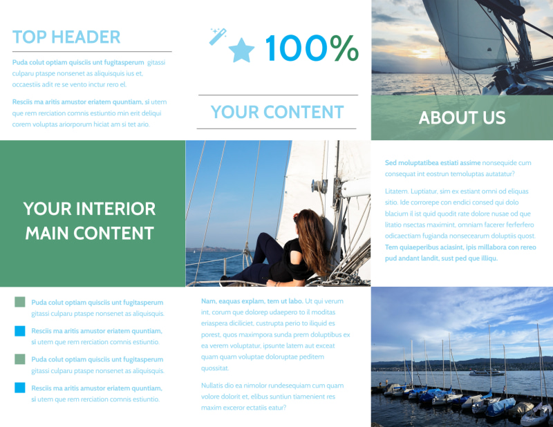 Sailing tours Brochure Template Preview 3