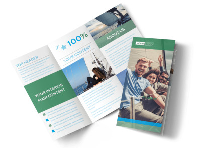 Sailing tours Tri-Fold Brochure Template