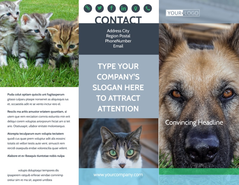 Animal Charities Brochure Template Preview 2
