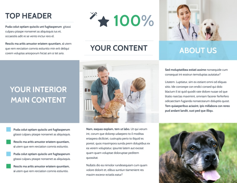 Animal Charities Brochure Template Preview 3