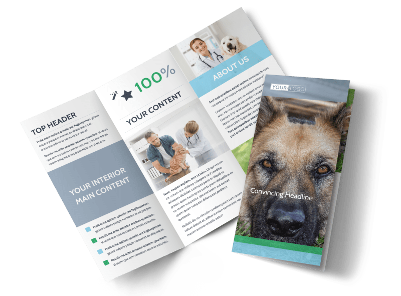 Animal Charities Brochure Template Preview 1
