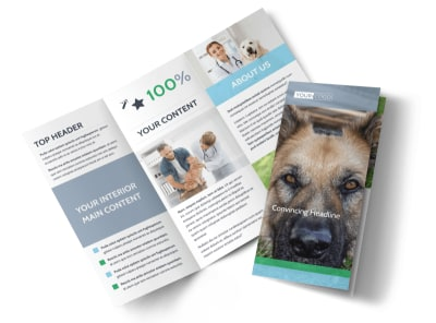 Animal Charities Tri-Fold Brochure Template preview