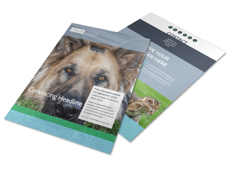 Animal Charities Flyer Template Preview 1