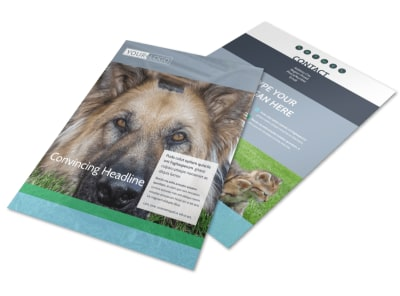 Animal Charities Flyer Template preview