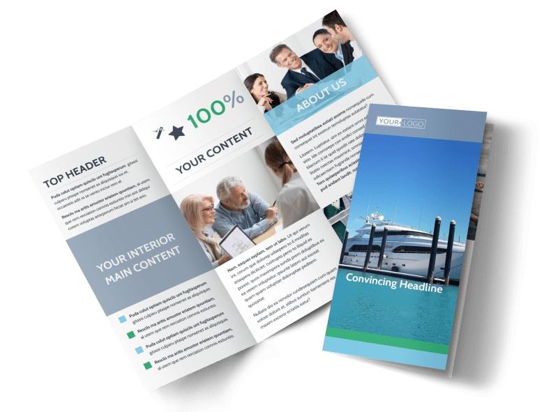 Marine Insurance Brochure Template MyCreativeShop - Folding brochure template