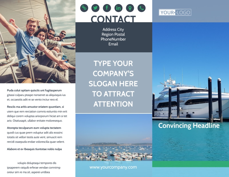 Marine Insurance Brochure Template Preview 2