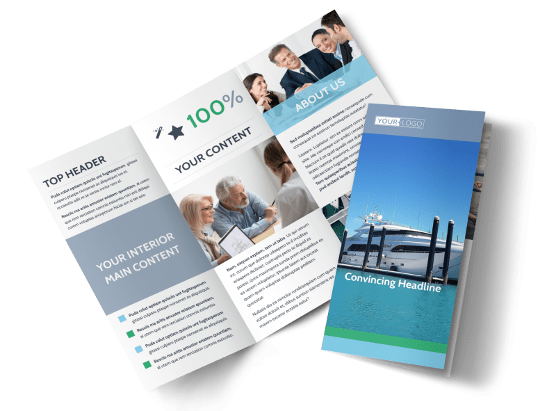 Marine Insurance Brochure Template Preview 1