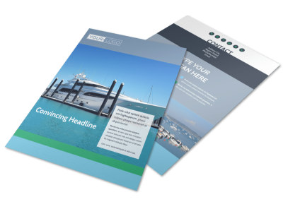 Marine Insurance Flyer Template