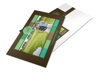 Golf Tournament Postcard Template 2