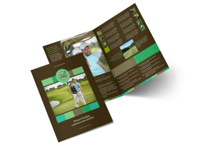 Golf Tournament Bi-Fold Brochure Template 2