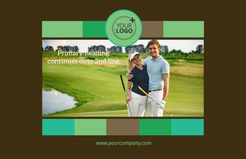 Golf Tournament Postcard Template Preview 2