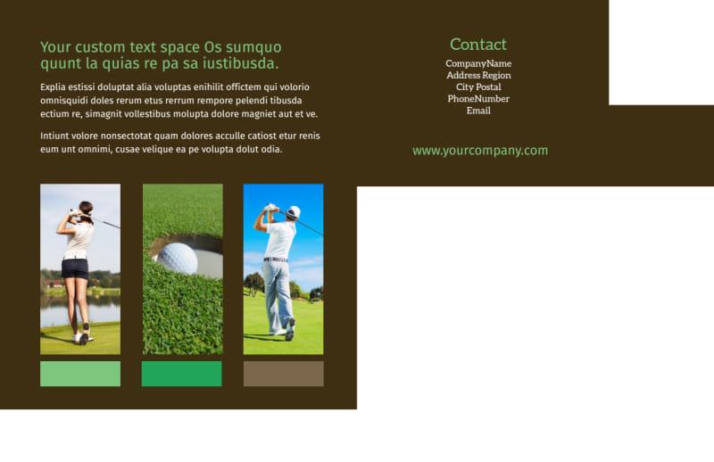 Golf Tournament Postcard Template Preview 3