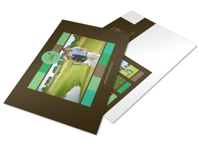Golf Tournament Postcard Template Preview 1
