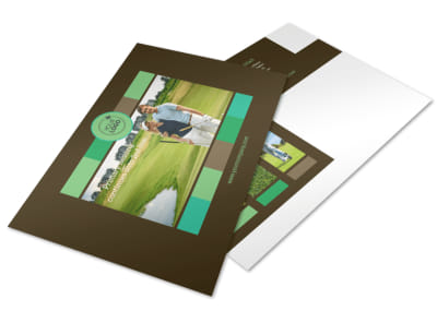 Golf Tournament Postcard Template