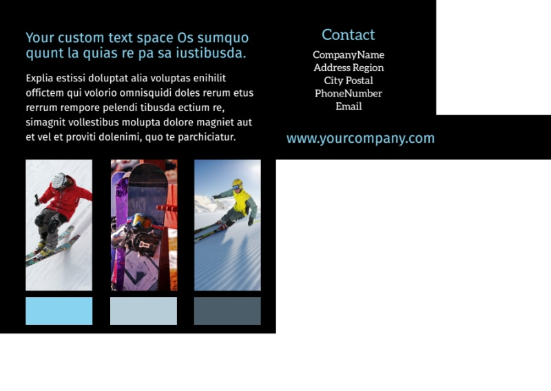 Top Ski Resort Postcard Template Preview 3