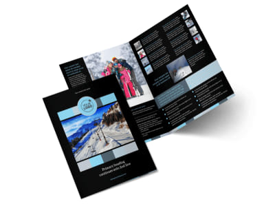 Top Ski Resort Bi-Fold Brochure Template 2