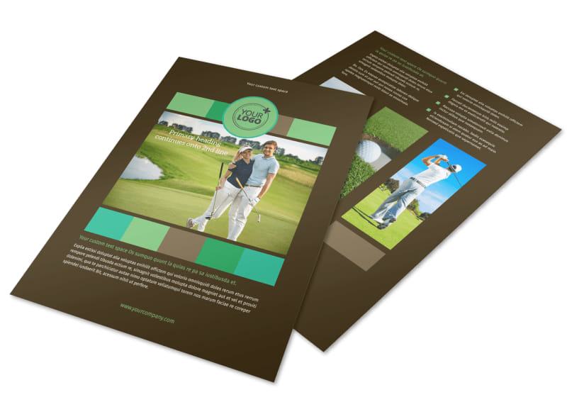 Golf Tournament Flyer Template Mycreativeshop