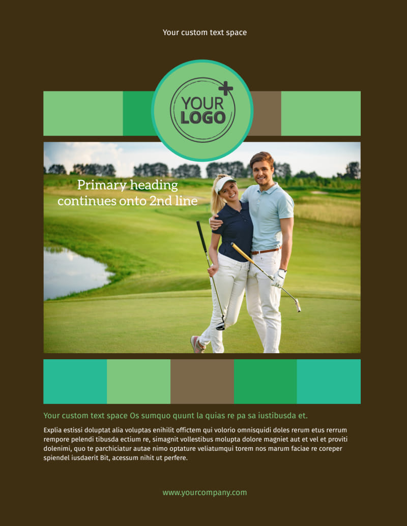 Golf Tournament Flyer Template Preview 2
