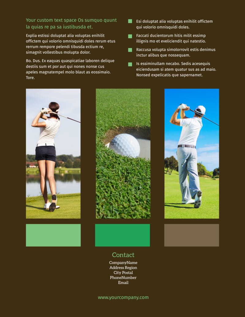 Golf Tournament Flyer Template Preview 3