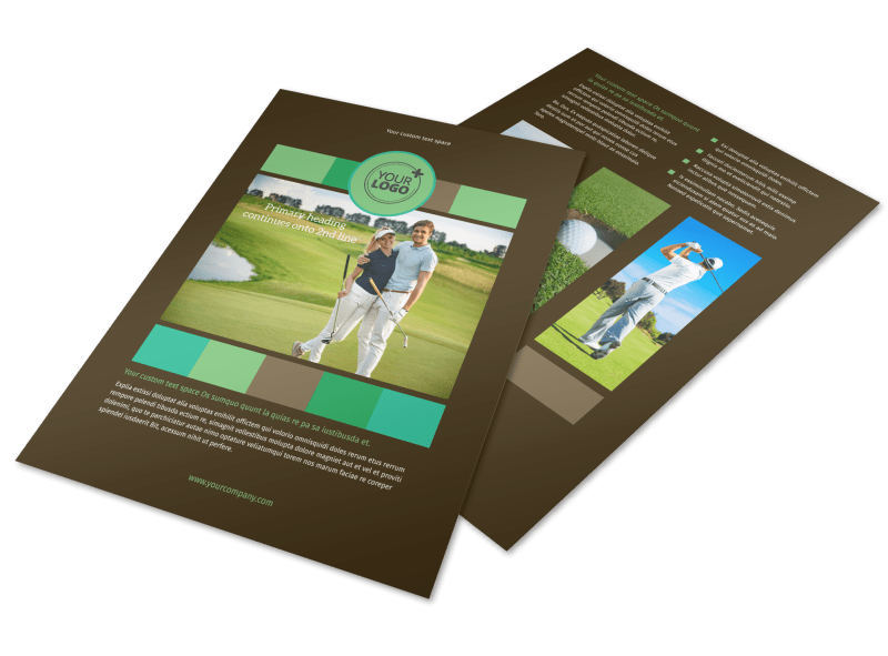 Golf Tournament Flyer Template Preview 1
