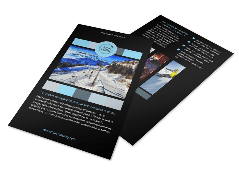 Top Ski Resort Flyer Template 3