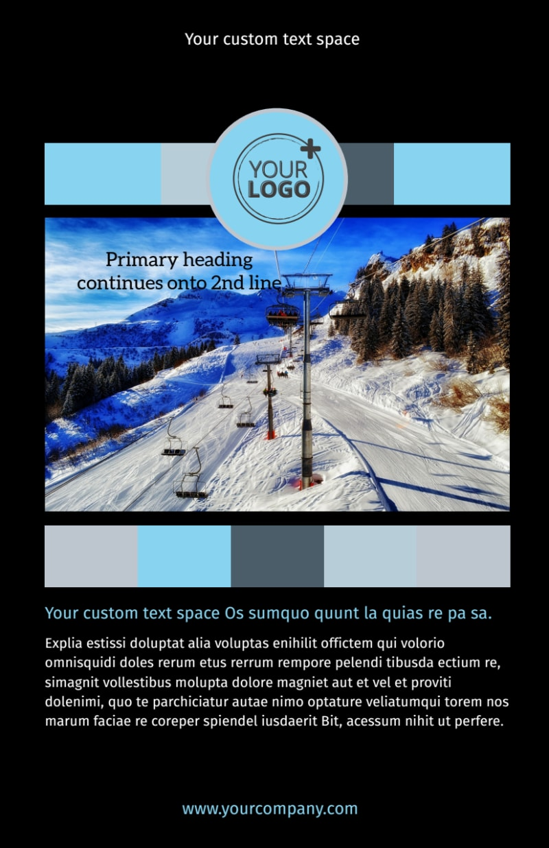 Top Ski Resort Flyer Template Preview 2