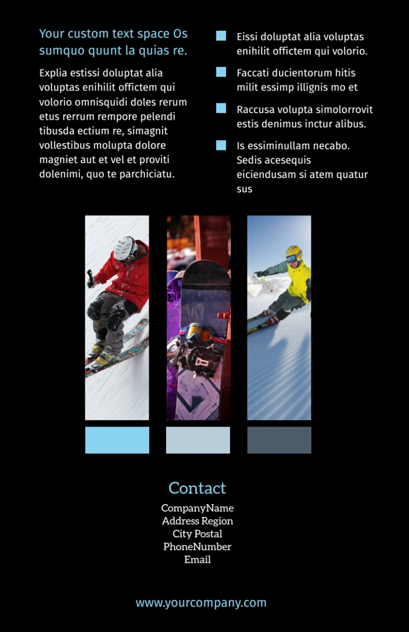 Top Ski Resort Flyer Template Preview 3
