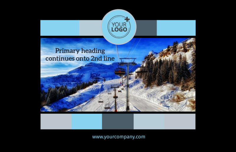 Top Ski Resort Postcard Template Preview 2