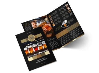 Brew Pub Bi-Fold Brochure Template 2