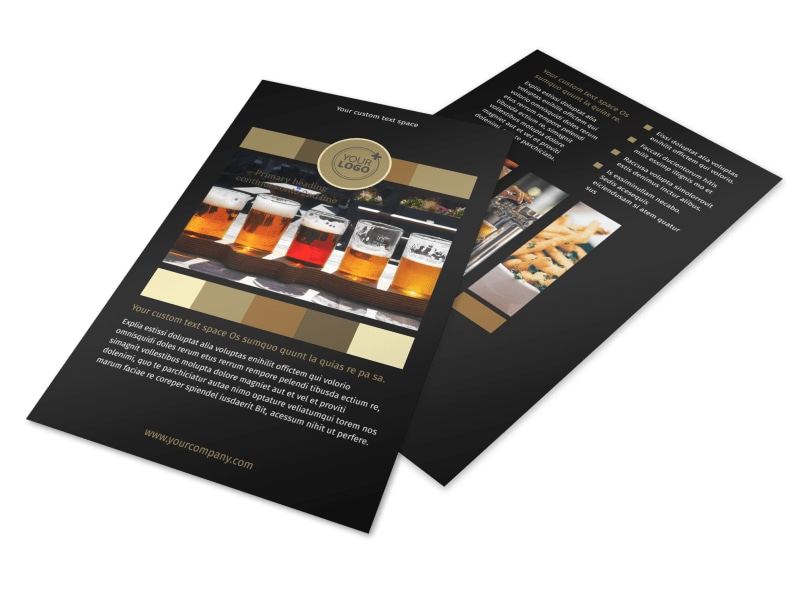Brew Pub Flyer Template 3