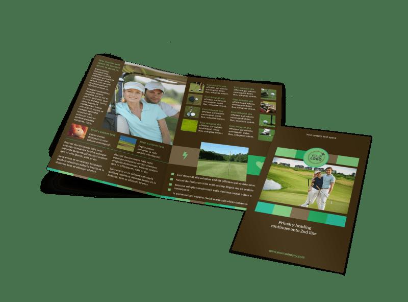 Golf Tournament Brochure Template Preview 1
