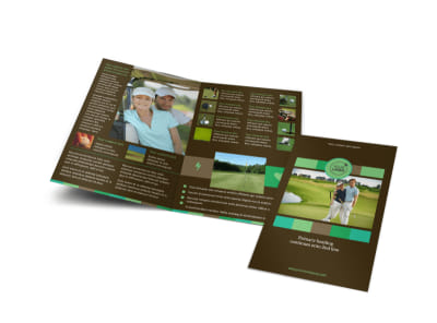 Golf Tournament Bi-Fold Brochure Template
