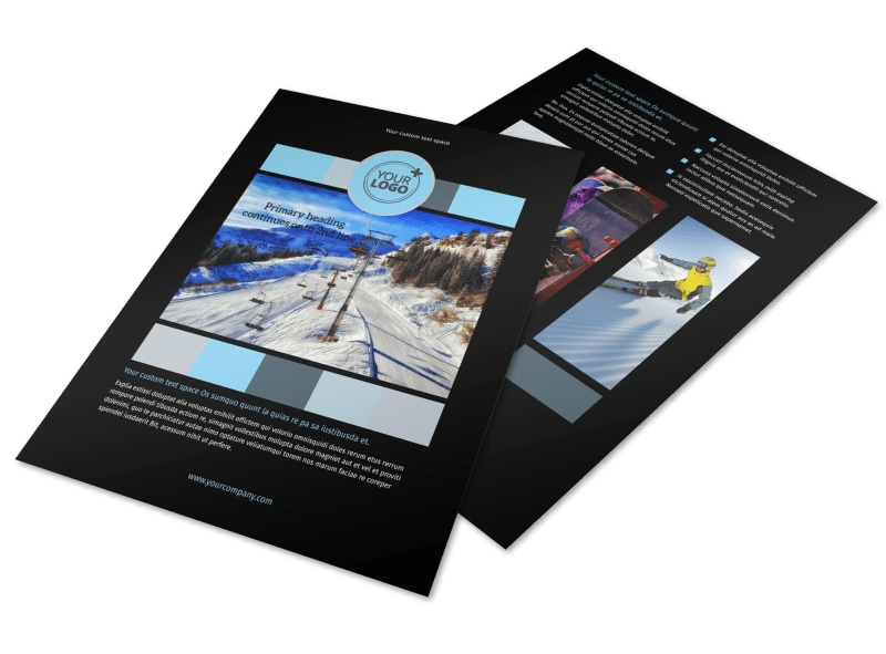 Top Ski Resort Flyer Template Preview 4