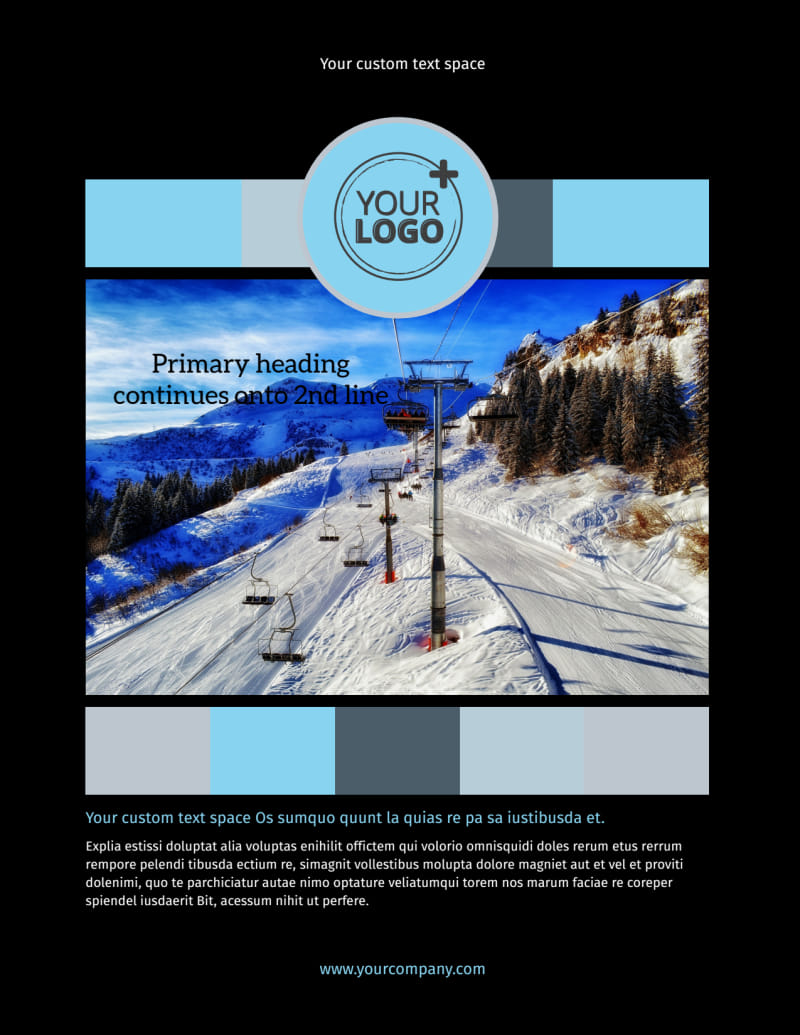 Top Ski Resort Flyer Template Preview 2