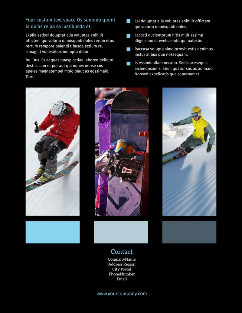 Top Ski Resort Flyer Template Preview 3