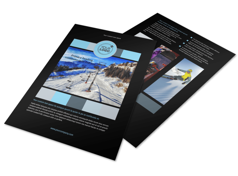 Top Ski Resort Flyer Template Preview 1