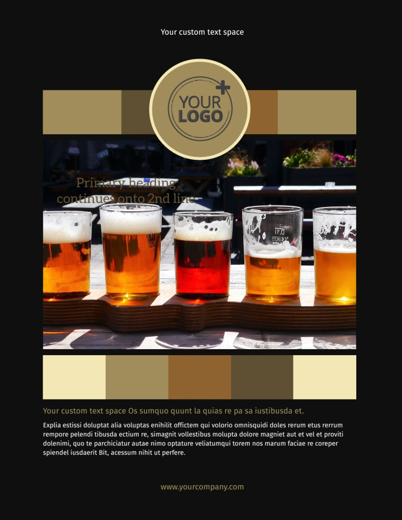 Brew Pub Flyer Template Preview 2