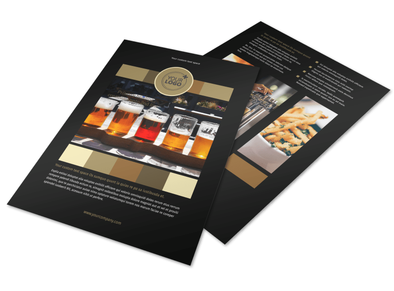 Brew Pub Flyer Template Preview 1