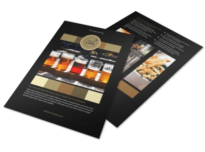 Brew Pub Flyer Template preview