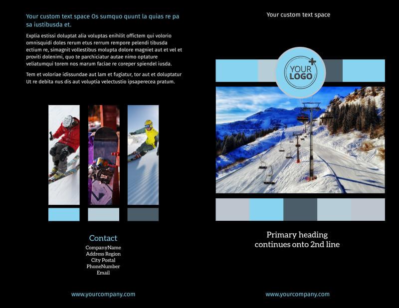 Top Ski Resort Brochure Template Preview 2